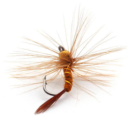 istock Fishing fly with hook hand made 1172526077