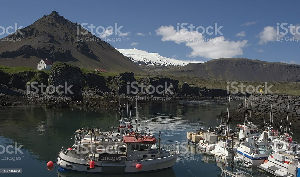 Fishing hamlet. stock photo