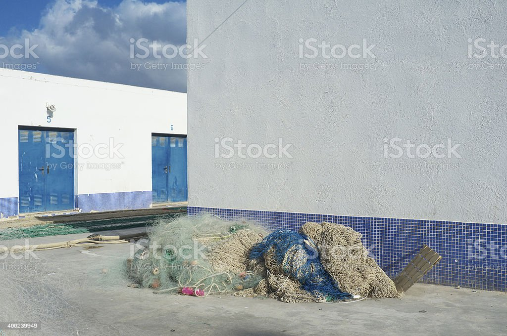 Fishing harbor royalty-free stock photo