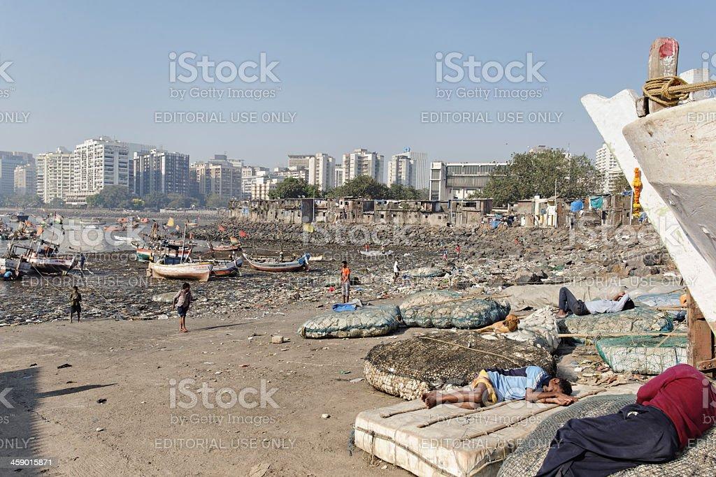 Fishing harbour in Mumbai royalty-free stock photo