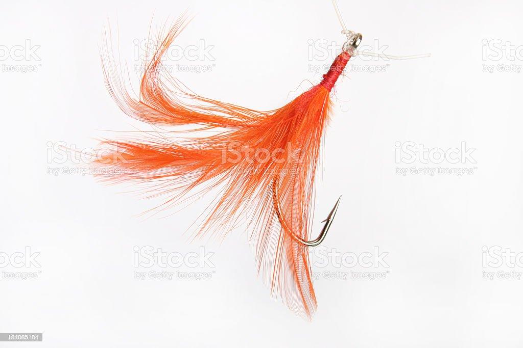 fishing hook, orange royalty-free stock photo