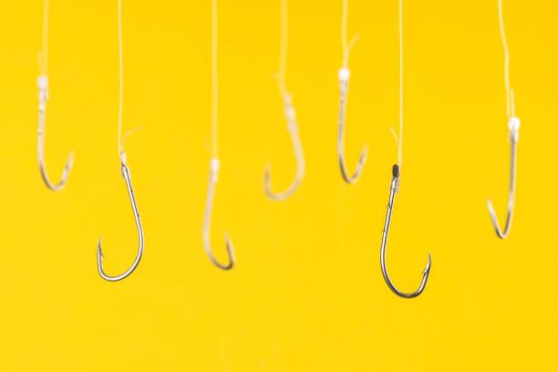 Fishing Hooks stock photo