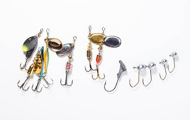 fischen haken und köder - crappie angeln stock-fotos und bilder