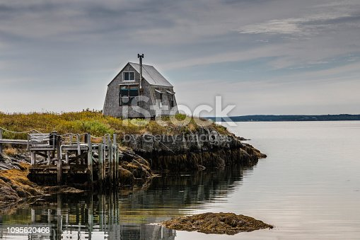 Fishing Hut by the Sea in Blue Rocks