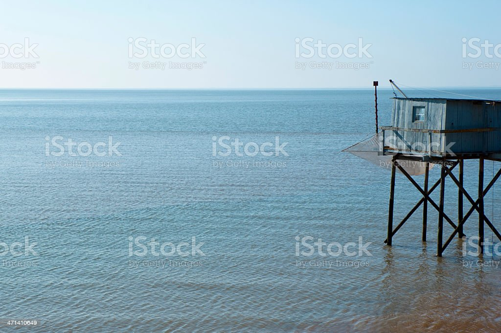 Fishing hut royalty-free stock photo