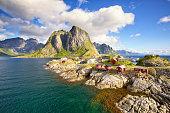 istock Fishing huts in Lofoten 853344502