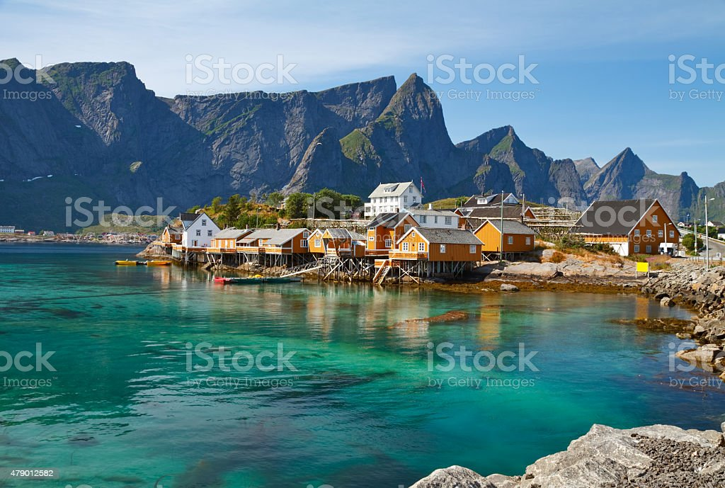 Fishing Huts stock photo