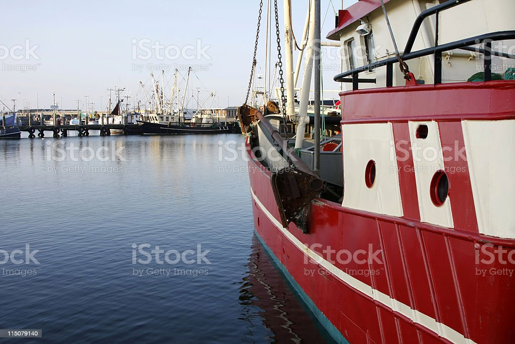 Fishing in Denmark stock photo