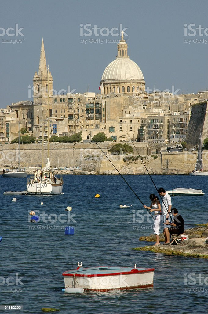 Fishing in Malta II royalty-free stock photo