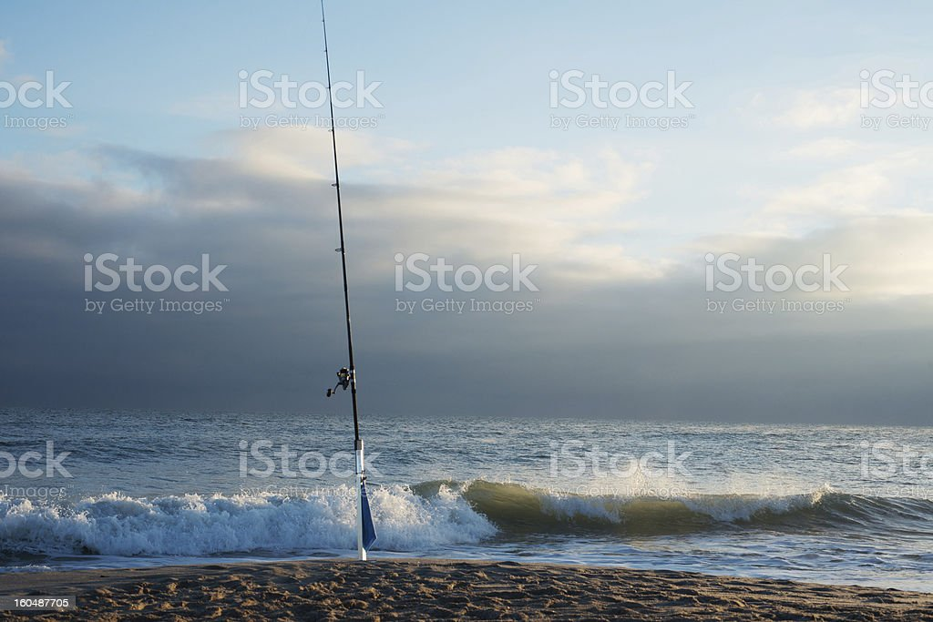 Fishing in the Canaveral Seashore stock photo