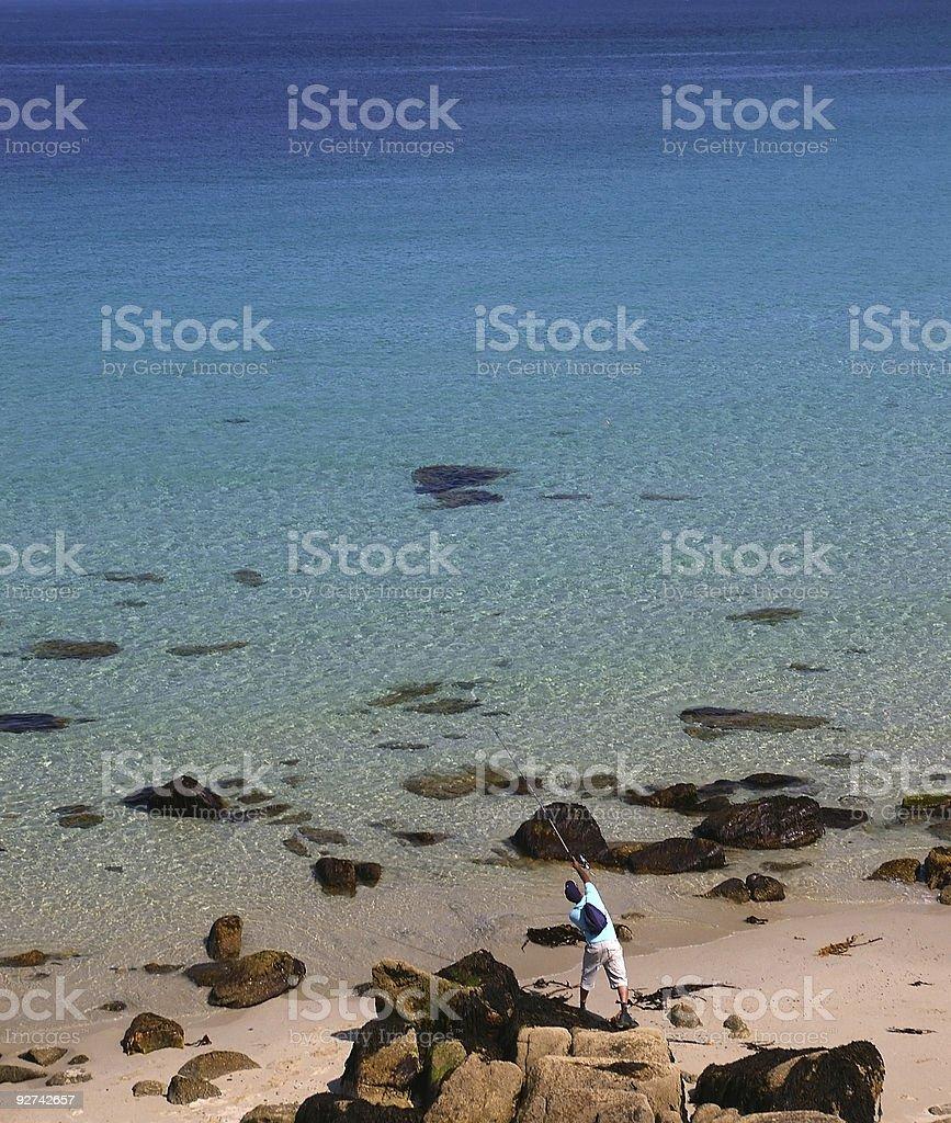 Angeln in der Karibik Lizenzfreies stock-foto