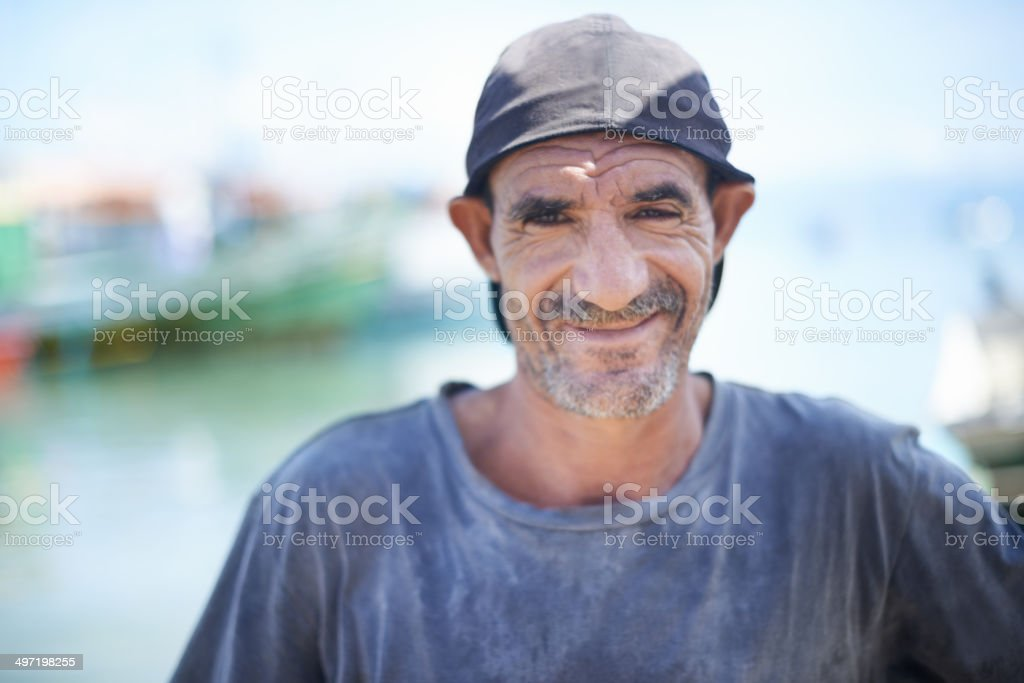 Fishing is a way of life stock photo