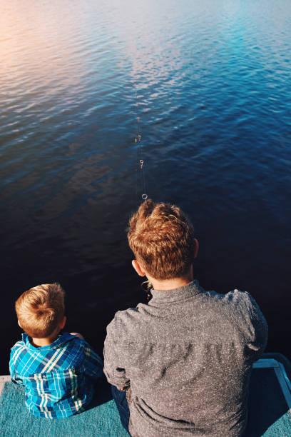 Fishing is tradition on Sundays stock photo