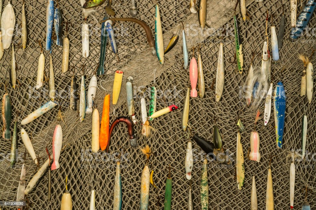 Fishing Lure Background stock photo