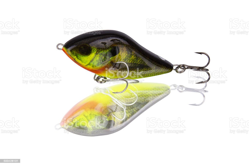 Fishing lure coloring sunfish stock photo