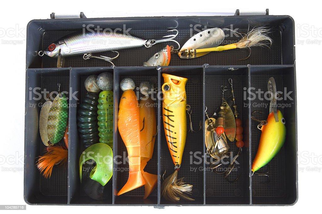 Fishing lures stock photo