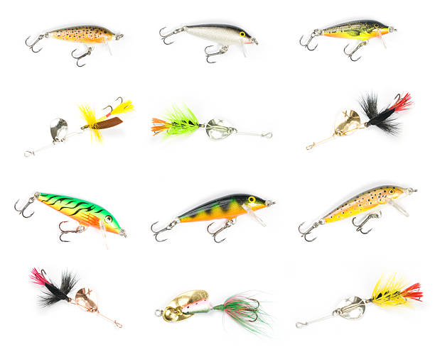XXL Fishing Lures stock photo
