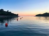 istock Fishing marker buoy in sea 1282981738