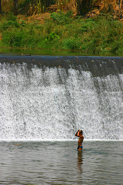 Fisherman stock image. Image of woman, women, person