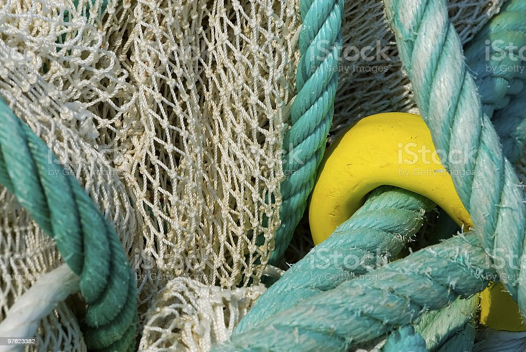 Fishing net as Background royalty-free stock photo