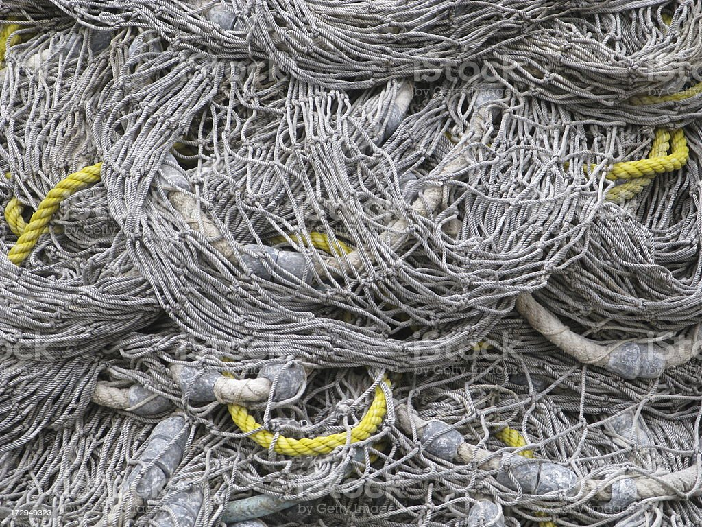 Fishing Net Full Frame royalty-free stock photo
