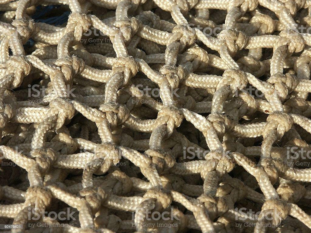 Fishing Net - Knots Close up royalty-free stock photo
