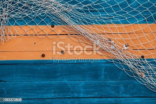 Fishing net on the board