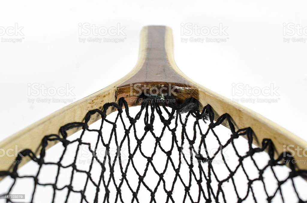 Fishing Net On White ... Close-up royalty-free stock photo