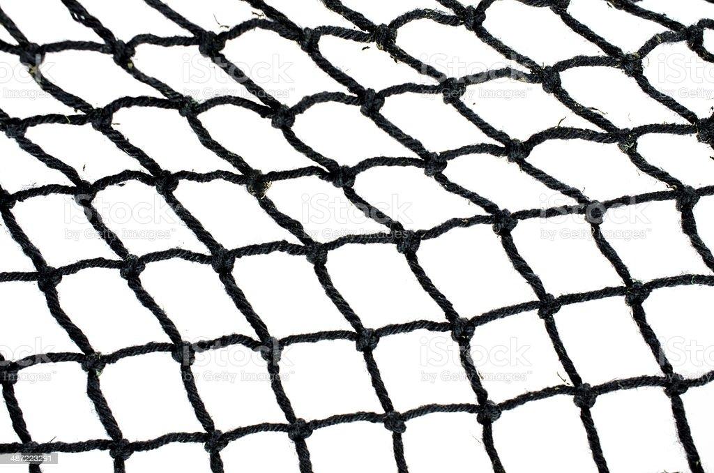 Fishing Net On White ... Close-up royalty-free stock photo