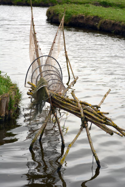 Fishing net old fishing net in the water miller park stock pictures, royalty-free photos & images