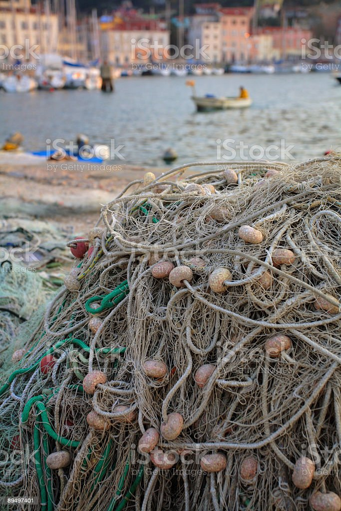 Fishing net royalty free stockfoto