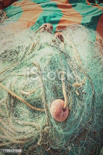 istock Fishing nets background 1159431349