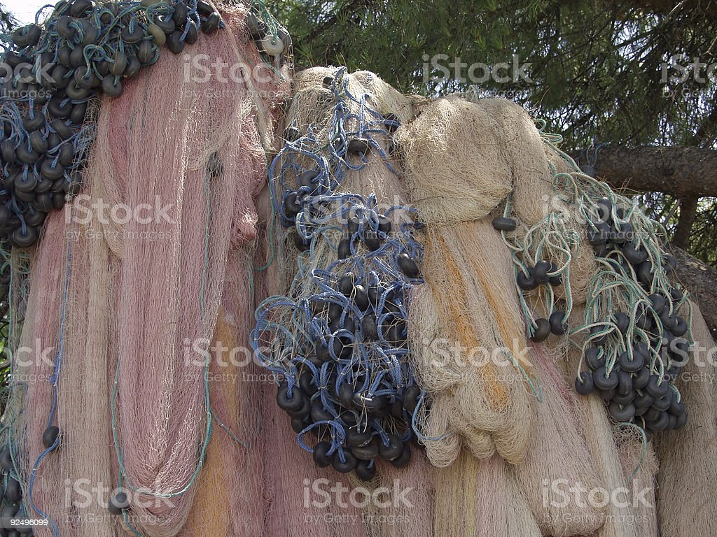 Fishing Nets Drying royalty-free stock photo
