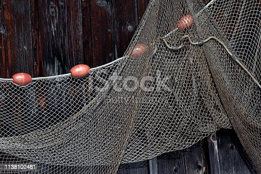 Fishing supplies at ammersee in bavaria