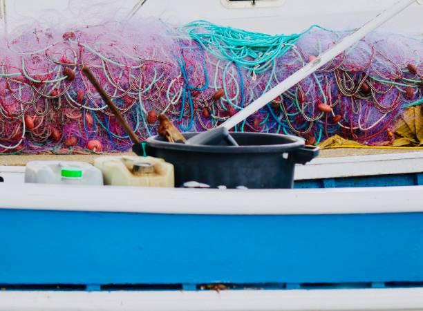 filets de pêche - josianne toubeix photos et images de collection