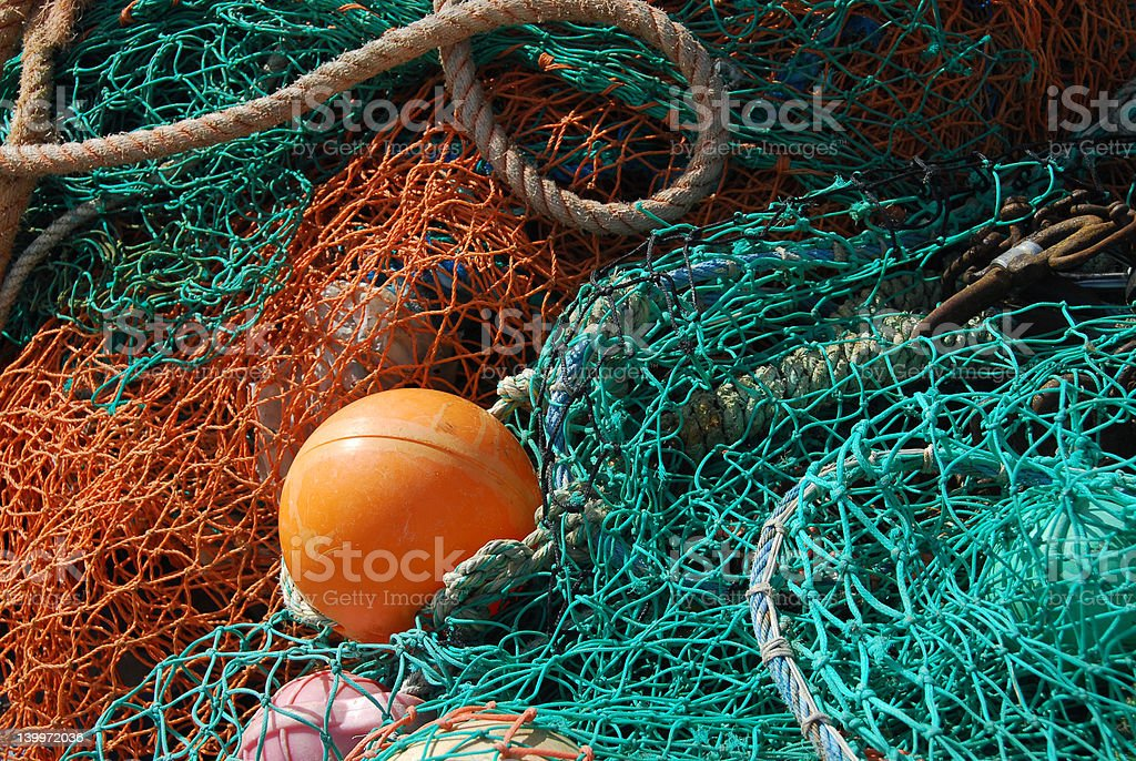 Fishing Nets stock photo