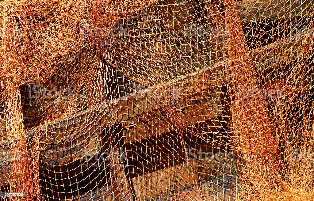 fishing nets royalty-free stock photo