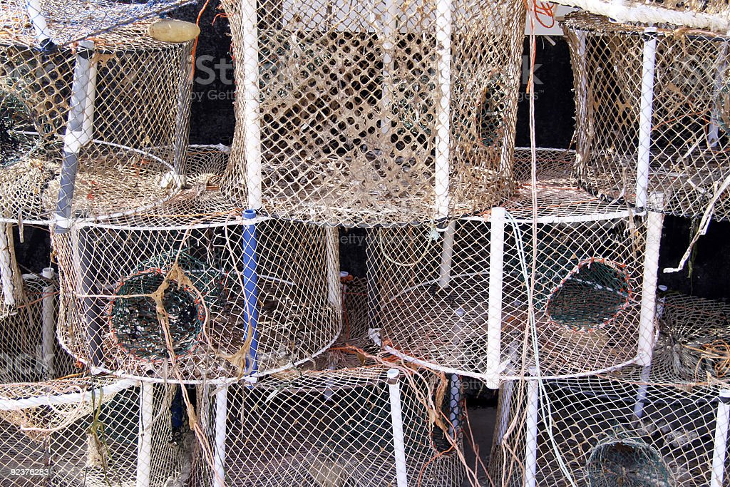 fishing nets royalty-free stock photo