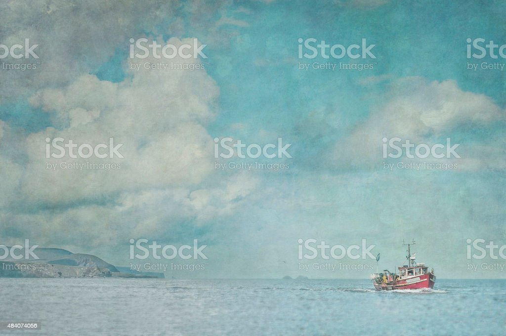 Fishing off Ireland royalty-free stock photo