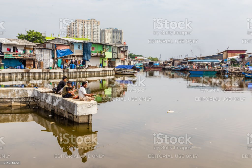 Vieux port de pêche Jakarta, Indonesia - Photo