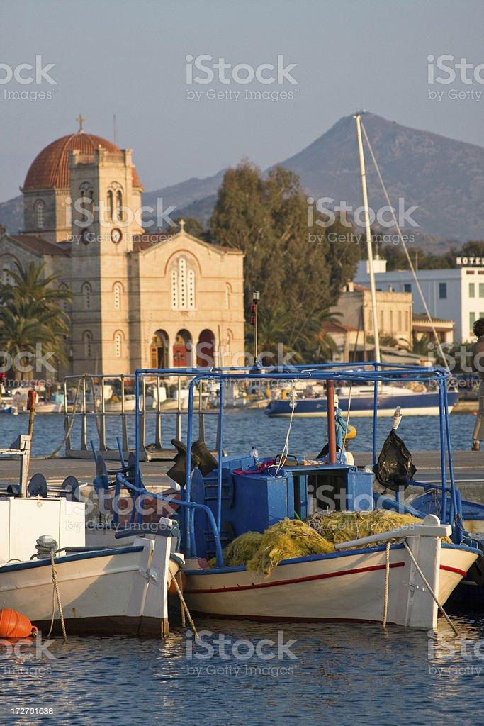Fishing on Aegina royalty-free stock photo