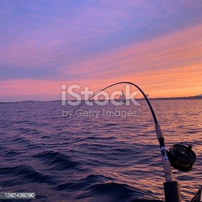 Fishing on Puget Sound, Seattle, Washington