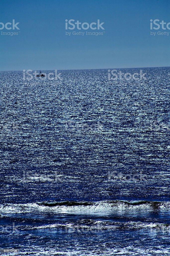 Fishing on the Horizon royalty-free stock photo