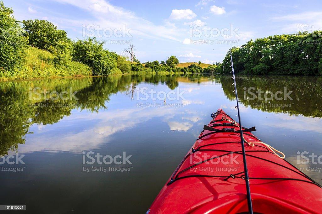 Fishing on the lake stock photo