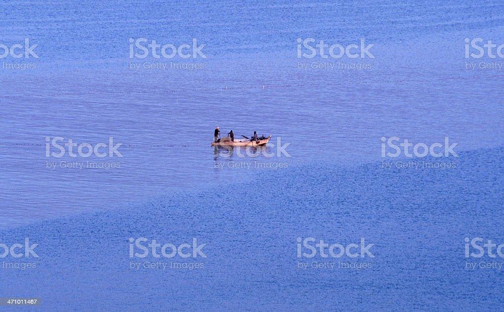 Fishing on the nile stock photo