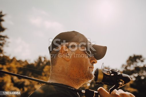 istock Fishing on the river 1262449984