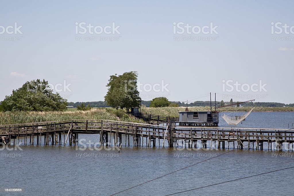 Fishing on the river royalty-free stock photo