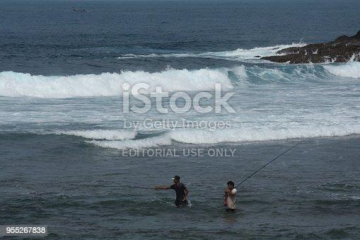 156872766istockphoto fishing on the Watu Karung bech, Pacitan, Indonesia 955267838