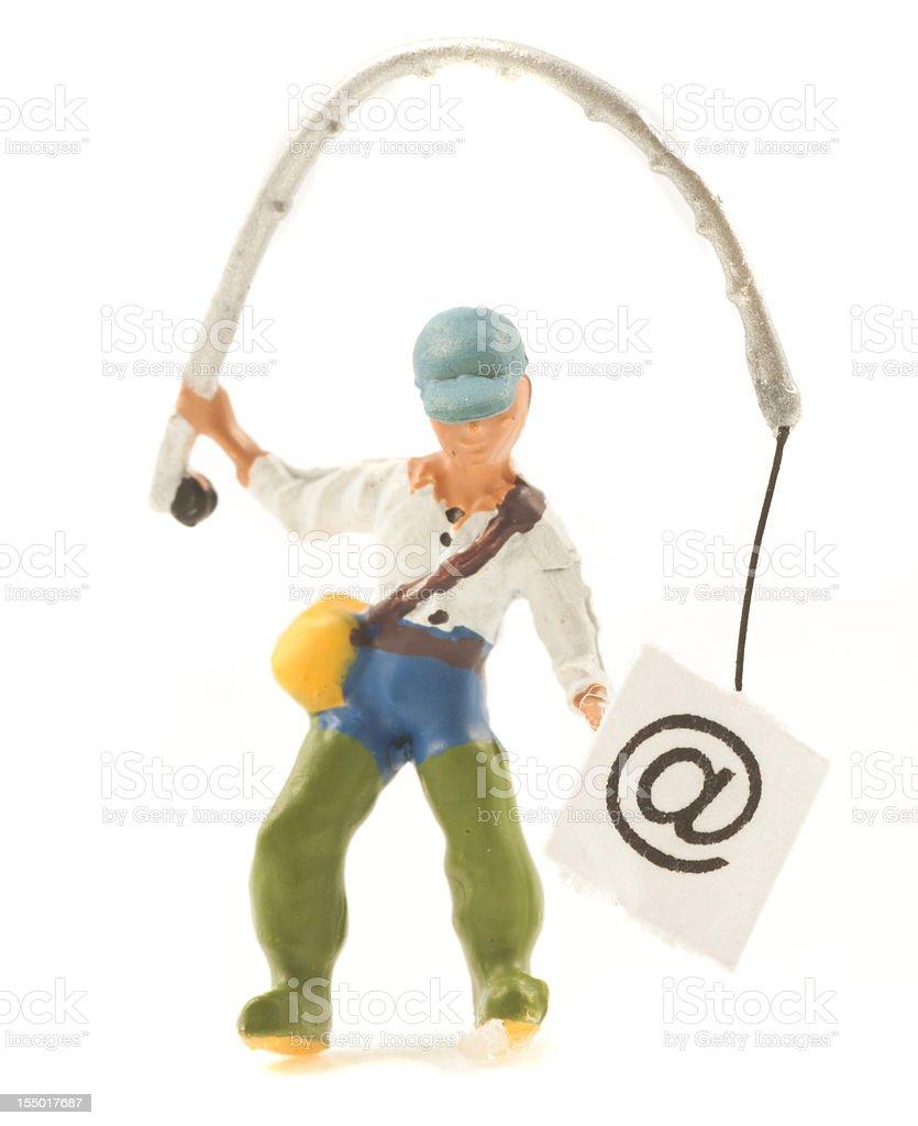 fishing passwords and emails - Internetkriminalität stock photo