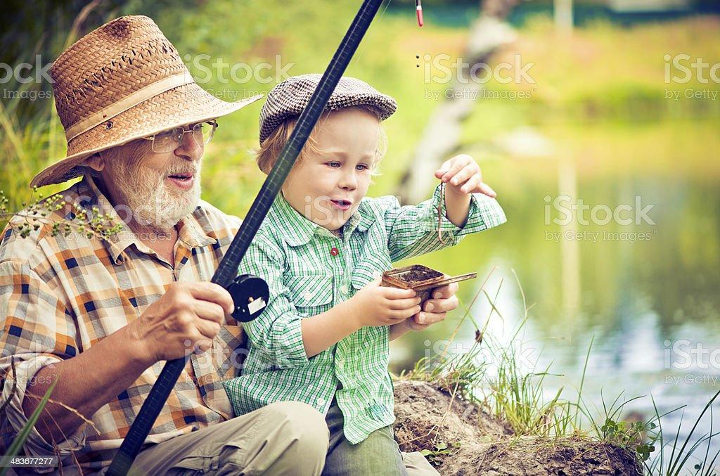 De pesca - foto de stock